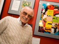 NEW YORK - FEBRUARY 23: (EXCLUSIVE ACCESS) Comic book legend Stan Lee poses at the opening reception for ''Stan Lee: A Retrospective'' presented by the Museum of Comic and Cartoon Art on February 23, 2007 in New York City. (Photo by Mat Szwajkos/Getty Images)