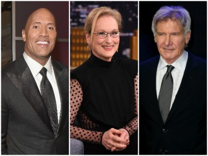 Meryl Streep Harrison Ford Dwayne Johnson Getty