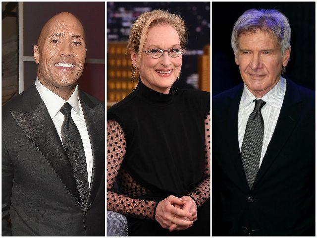 Meryl Streep Harrison Ford Dwayne Johnson Getty