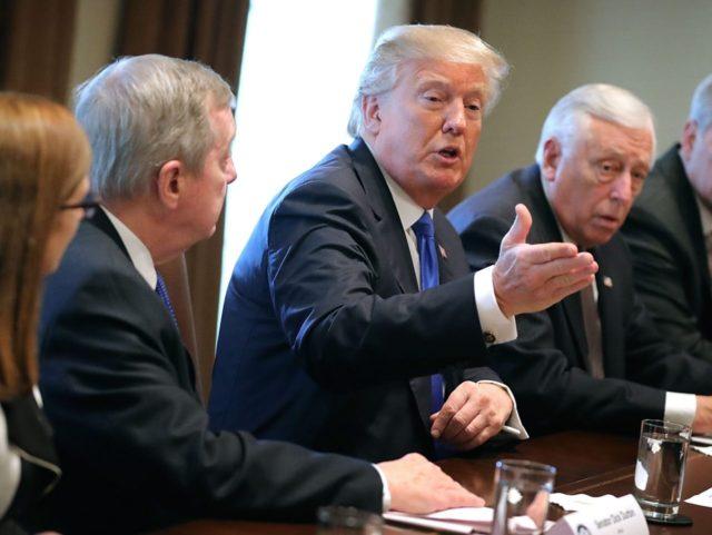 Trump Durbin Hoyer DACA 6 (Chip Somodevilla / Getty)