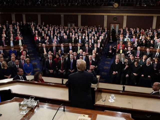 Trump from behind State of the Union address (Jim Bourg-Pool / Getty)