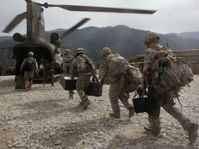 U.S. troops boarding helicopter