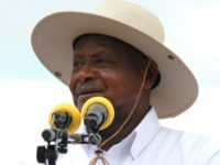 Uganda's President Yoweri Museveni delivers a speech during the ceremony marking the laying of the foundation stone for the starting point of the East Africa Crude Oil Pipeline (EACOP) in Kabaale. The Ugandan government plans to construct an oil pipeline of over 1,400 kilometres from western Uganda, where 6.5 billion …