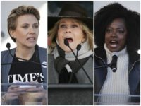 Johansson, Fonda, Davis, Women's March AP
