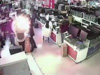 cell phone battery explodes after man bites it