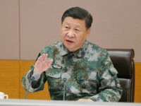 BEIJING, Nov. 3, 2017 -- Chinese President Xi Jinping, who is also general secretary of the Communist Party of China Central Committee and chairman of the Central Military Commission (CMC) and commander in chief of the CMC joint battle command center, speaks during his inspection tour to the command center …