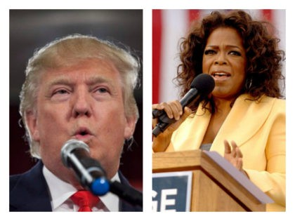 Collage of President Donald Trump and Oprah Winfrey