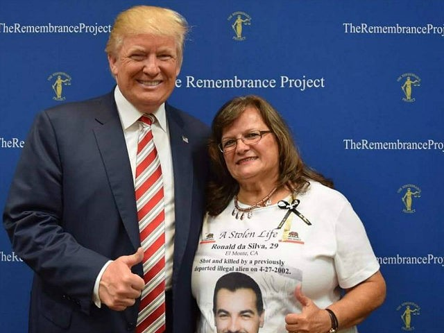 Angel Mom Agnes Gibboney with Donald Trump