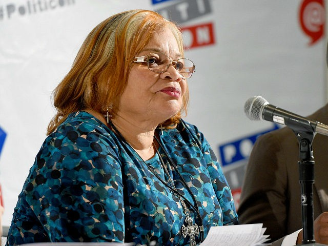 PASADENA, CA - JULY 29: Dr. Alveda King at the 'Fatherhood, Community, and Our Cities' panel during Politicon at Pasadena Convention Center on July 29, 2017 in Pasadena, California. (Photo by Joshua Blanchard/Getty Images for Politicon)