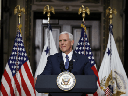 Vice President Mike Pence speaks during a swearing-in ceremony for U.S. Ambassador to Japan William F. Hagerty IV in the Indian Treaty Room of the Eisenhower Executive Office Building in the White House complex, Thursday, July 27, 2017, in Washington. (AP Photo/Alex Brandon)