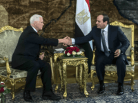 U.S. Vice President Mike Pence shakes hands with Egyptian President Abdel-Fattah el-Sissi, right, at the Presidential Palace in Cairo, Egypt, Saturday, Jan. 20, 2018. Pence arrived in Cairo hours after the U.S. Congress and President Donald Trump failed to reach agreement on a plan to avert a partial federal closure. …