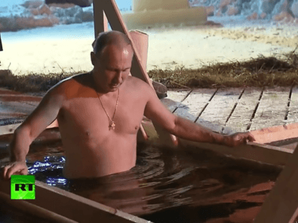President Vladimir Putin waded into a frozen lake in a traditional celebration of Epiphany. The annual baptism is a long-running staple of the Orthodox Church, with believers across Russia taking the midwinter dip.