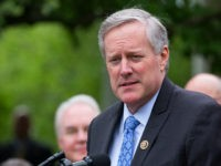 Rep. Mark Meadows, (R-NC 11th District) and chair of the Freedom Caucus, speaks at President Trump's press conference with members of the GOP, on the passage of legislation to roll back the Affordable Care Act, in the Rose Garden of the White House, On Thursday, May 4, 2017. (Photo by Cheriss May/NurPhoto via Getty Images)