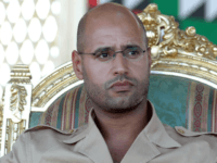 Saif al-Islam, son of late Libyan leader Muammar al-Qaddafi, is pictured at a ceremony in the southern Libyan city of Ghiryan on August 18, 2007. He has been released after five years in detention, according to his lawyer.