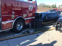 A Tesla sedan on autopilot crashed into a fire engine. The accident is being investigated by the NTSB