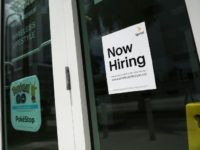 Even with the US economy in its eighth year of recovery, and solid hiring pushing the unemployment rate to a 17-year low, wage gains have been far more sluggish than expected. This file photo taken on July 7, 2017 shows a sign at a Miami business