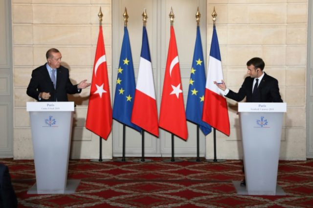 Turkish President Recep Tayyip Erdogan's meeting with Emmanuel Macron of France on January 5, 2018, was overshadowed by human rights concerns
