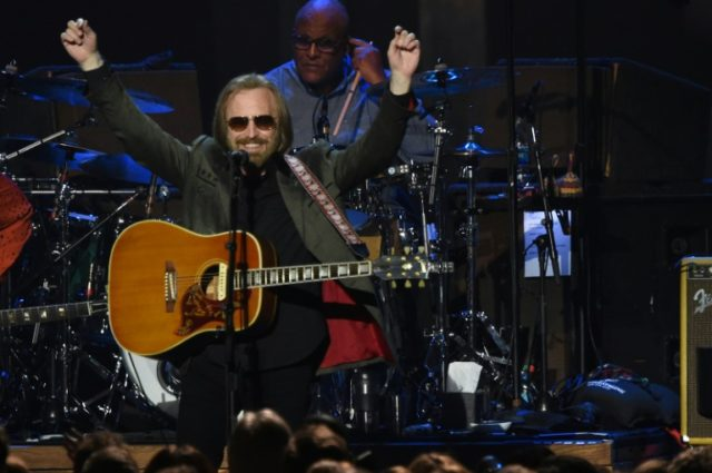 Tom Petty -- shown here performing at the 2017 MusiCares Person of the Year ceremony in his honor in February 2017 -- was taking painkillers for a fractured hip when he died