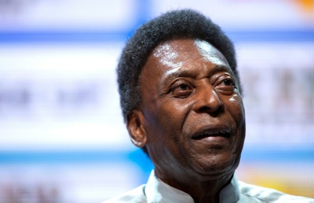 Pele pictured during the opening event of the 2018 Carioca Football Championship at Cidade das Artes in Rio de Janeiro on January 15, 2018