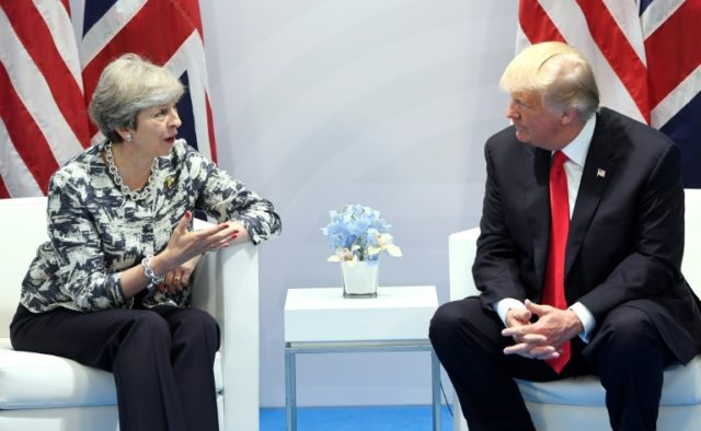 Trump to meet British PM May in Davos next week