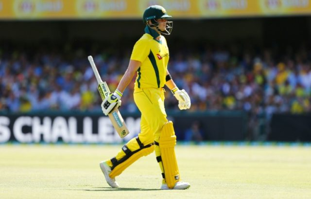Australia's Steve Smith walks off after being dismissed during the 2nd one-day international cricket match between England and Australia in Brisbane on January 19, 2018