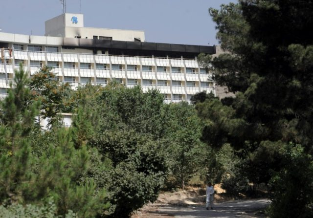 """""""I don't know if the attackers are inside the hotel but I can hear gunfire from somewhere near the first floor,"""" a guest at the Intercontinental Hotel in Kabul (seen in 2011) told AFP January 20, 2017"""