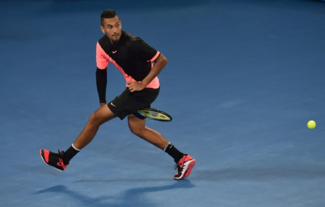 Australia's Nick Kyrgios has shown signs of greater composure in his matches in Melbourne this week