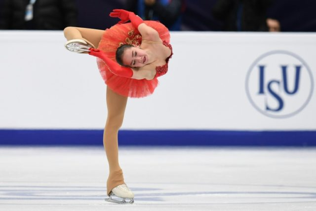 Russia's Alina Zagitova performs in the ladies' free skating at the ISU European Figure Skating Championships in Moscow on January 20, 2018