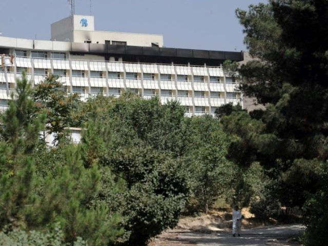 """I don't know if the attackers are inside the hotel but I can hear gunfire from somewhere near the first floor,"" a guest at the Intercontinental Hotel in Kabul (seen in 2011) told AFP January 20, 2017"