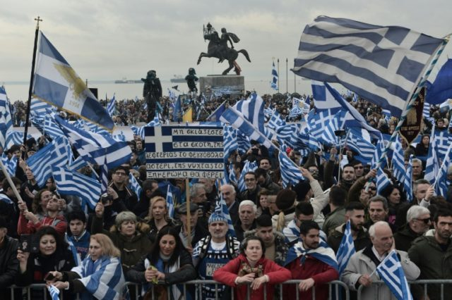 More than 50,000 people took to the streets of Thessaloniki to protest against the use of the name Macedonia by Greece's neighbour