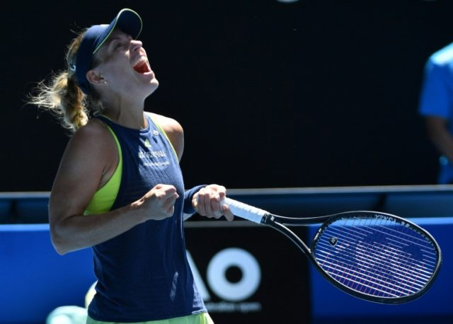 Germany's Angelique Kerber is the only Grand Slam champion left on the women's side of the draw at the Australian Open