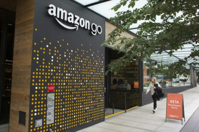 People with the app can pick up items at the Amazon Go store which are are automatically added to their online account with no lines or checkout