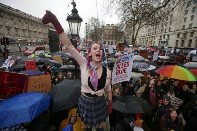 Women's rights protestors slam harassment, violence and Trump