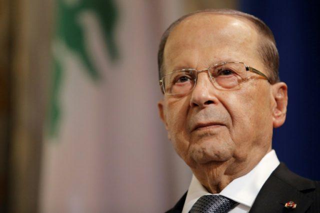 US assistant secretary for terrorist financing Marshall Billingslea met with Lebanon's President Michel Aoun, pictured in September 2017