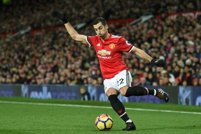 Henrikh Mkhitaryan, pictured in December 2017, had a difficult spell under Jose Mourinho at Old Trafford