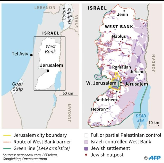Events since Trump decision on Jerusalem