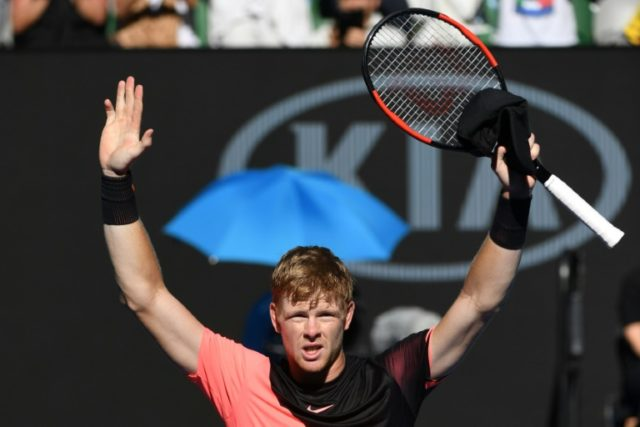 Britain's Kyle Edmund stunned third seed Grigor Dimitrov 6-4, 3-6, 6-3, 6-4 to set up last-four clash with either world number one Rafael Nadal or former US Open champion Marin Cilic