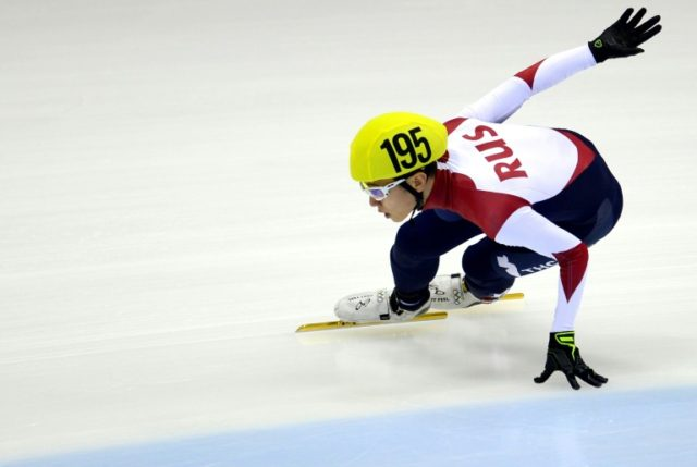 Victor An, pictured in 2015, won three gold medals at the Sochi Games
