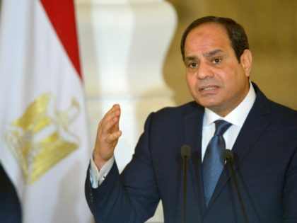 This file photo shows Egyptian President Abdel Fattah al-Sisi, who has officially submitted his candidacy for presidential polls due in March