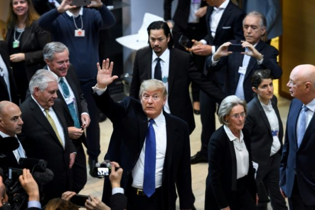 US President Donald rump joined the World Economic Forum in Davos with foreign exchange markets in turmoil and Washington's trading partners in uproar