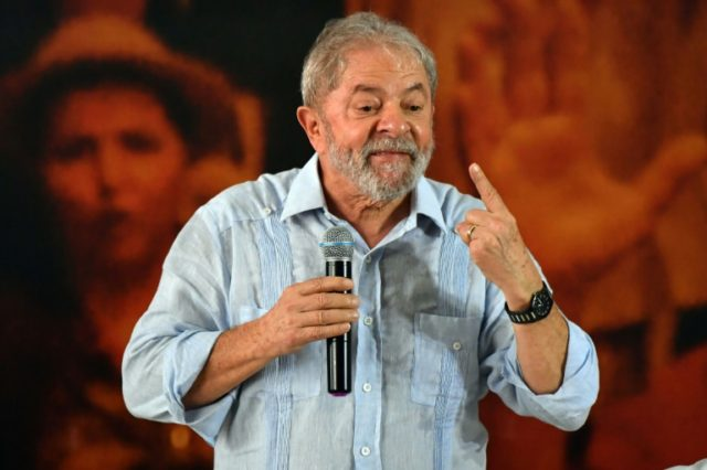 Former Brazilian president Luiz Inacio Lula da Silva is seen here at a rally January 25 in Sao Paulo. Current president Michel Temer said Monday that Lula remains a political force despite a recent corruption conviction