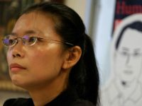 Lee Ching-yu was barred from boarding a plane to visit her husband in a Chinese prison