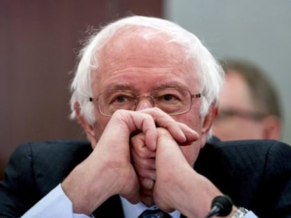 FILE - In this Dec. 13, 2017, file photo, Sen. Bernie Sanders, I-Vt., attends a House and Senate conference on Capitol Hill in Washington. Democrats say they're shifting to offense on health care, emboldened by successes in defending the Affordable Care Act. They say their ultimate goal is a government …