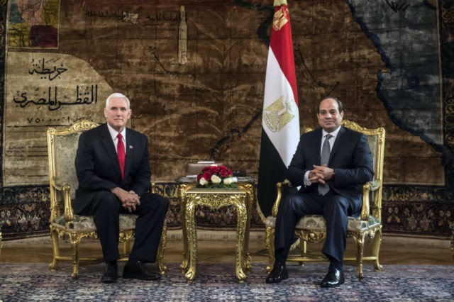 VP Pence says US stands 'shoulder to shoulder' with Egypt