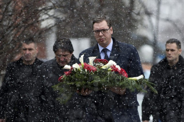 Serbian president visits Kosovo after politician's slaying