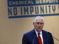 U.S. Secretary of State Rex Tillerson delivers a speech during a foreign ministers' meeting on the International Partnership against Impunity for the Use of Chemical Weapons, in Paris, Tuesday, Jan. 23, 2018. The United States and 28 other countries are launching a new plan to better identify and punish anyone …