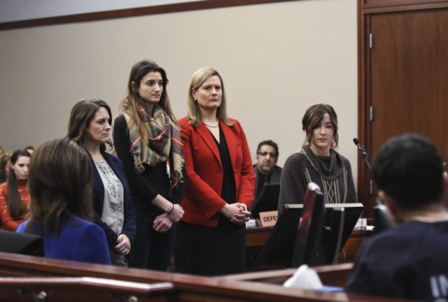 The Latest: Ex-gymnast says abusers thrived at Karolyi ranch