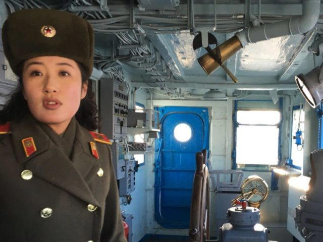 Captured USS Pueblo displayed as N. Korean propaganda prize