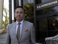 Texas Sen. Carlos Uresti, D-San Antonio. right, leaves the federal courthouse for a hearing, Monday, July 10, 2017, in San Antonio. (AP Photo/Eric Gay)