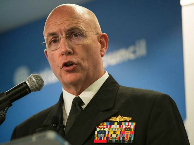 Admiral Kurt Tidd, commander of US Southern Command, addresses the Atlantic Council in Washington, DC, on July 13, 2016. / AFP / NICHOLAS KAMM (Photo credit should read NICHOLAS KAMM/AFP/Getty Images)